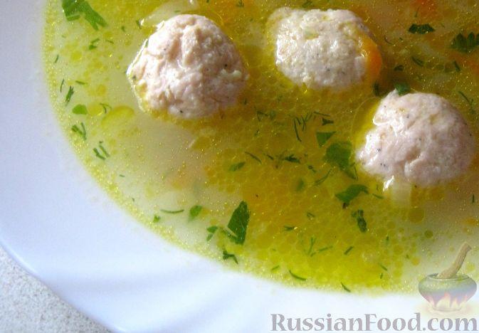 Рецепт Суп с фрикадельками, овощами и пшеном