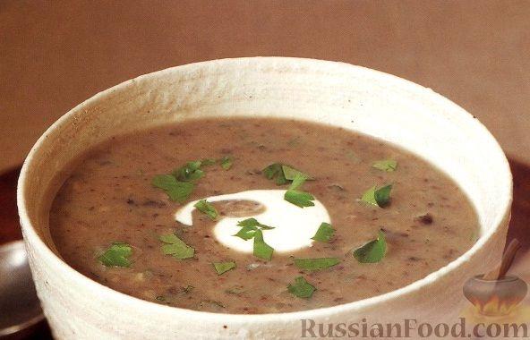 Рецепт Грибной суп-пюре с картофелем