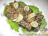 Фото к рецепту: Запеченное рыбное филе в кунжуте