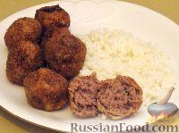 Фото к рецепту: Жареные фрикадельки из говядины
