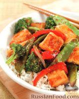 Фото к рецепту: Овощи стир-фрай с сыром тофу