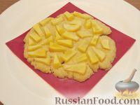 Фото к рецепту: Постная яблочная лепешка (в микроволновке)