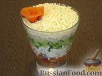 Фото к рецепту: Нежный салат-коктейль с семгой