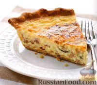 Фото к рецепту: Сырный киш с луком