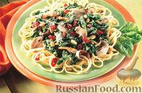 Фото к рецепту: Паста лингвини с клюквой по-флорентийски