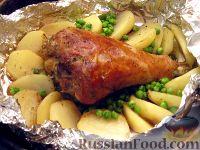 Фото к рецепту: Индюшиная голень в горчичном маринаде
