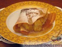 Фото к рецепту: Блины с банановой начинкой