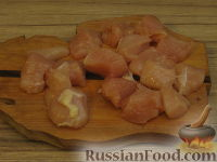 Фото приготовления рецепта: Куриный шашлычок в красном маринаде - шаг №4