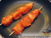 Фото приготовления рецепта: Куриный шашлычок в красном маринаде - шаг №7
