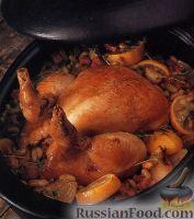 Тушеная в духовке курица