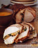 Фото к рецепту: Фаршированная свинина, запеченная в духовке