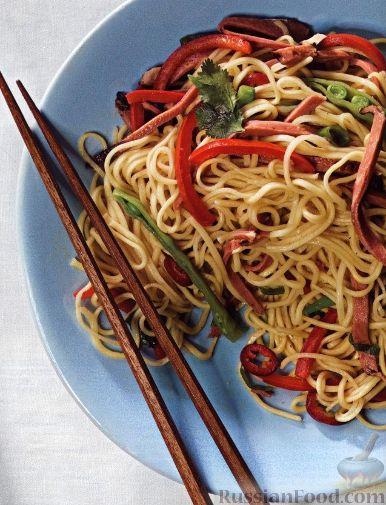 рецепты приготовления китайской лапши с курицей и овощами рецепт с фото