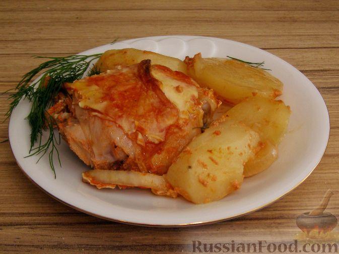 Рецепт Запеченная курица с имбирем и чесноком