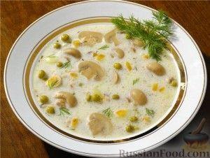 Рецепт Суп из консервированных шампиньонов