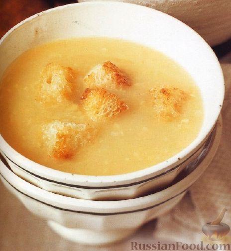 Рецепт Чесночный суп с крутонами
