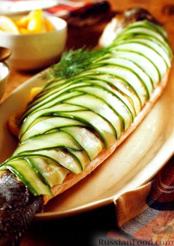Рецепт Запеченный лосось праздничный