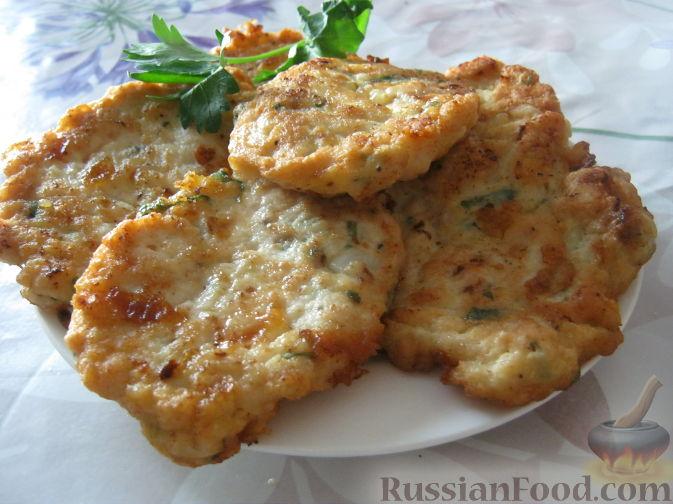 Рецепт Нежные котлетки из куриного фарша с сыром и зеленью