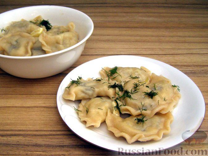 Рецепт Вареники с картошкой и жареными грибами