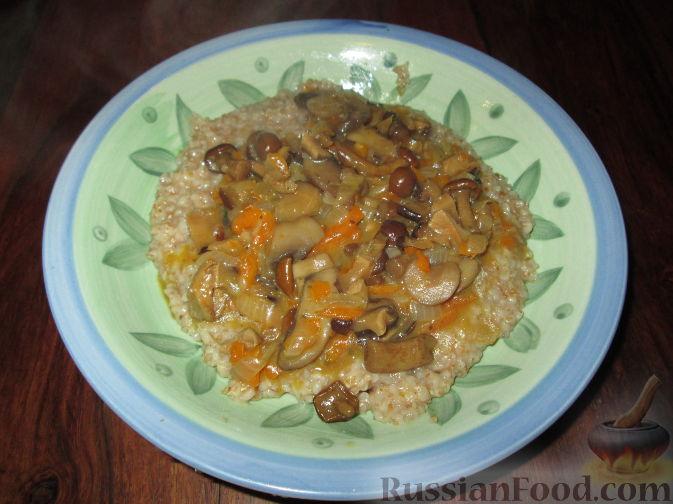 Рецепт Пшеничная каша с грибами