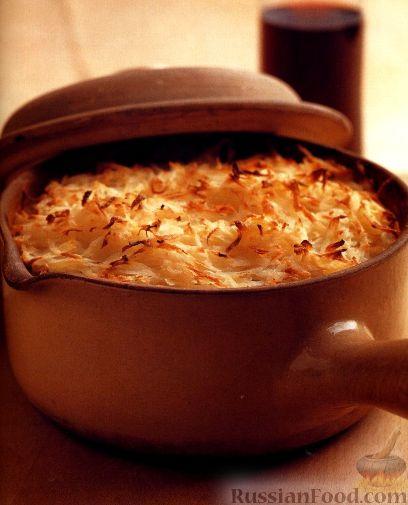 Рецепт Рагу из говядины и овощей под картофельной корочкой