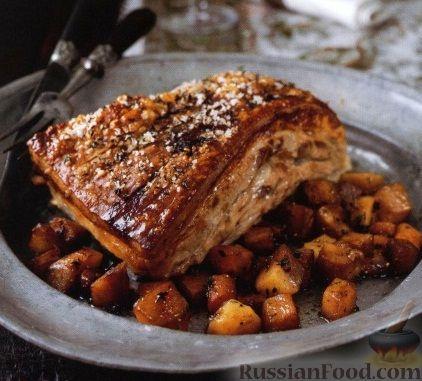 Рецепт Подчеревок, запеченный в духовке с овощами