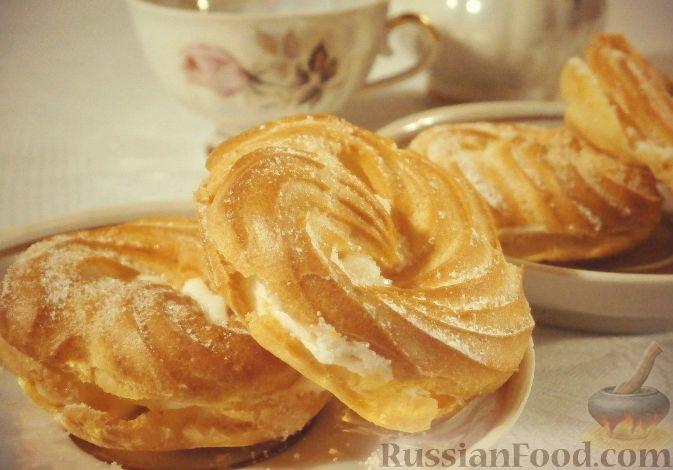 """Рецепт Заварные пирожные """"Творожное кольцо"""""""