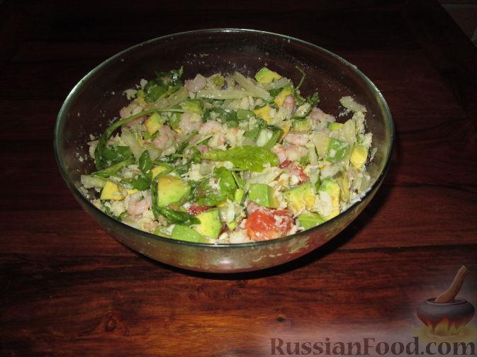 Рецепт Салат с авокадо, грейпфрутом и крабовым мясом