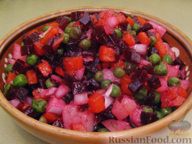 Рецепт Винегрет с зеленым горошком