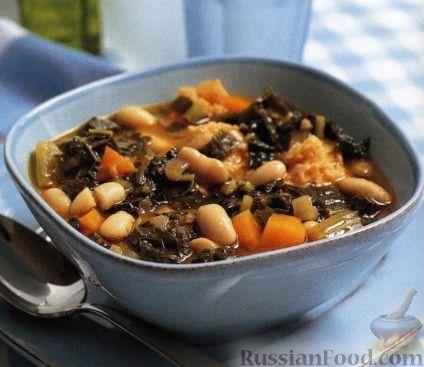 Рецепт Тосканский фасолевый суп риболлита