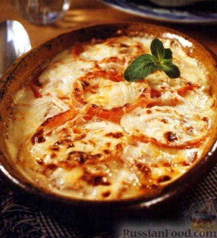 Рецепт Помидоры, запеченные в сливках под сырной корочкой