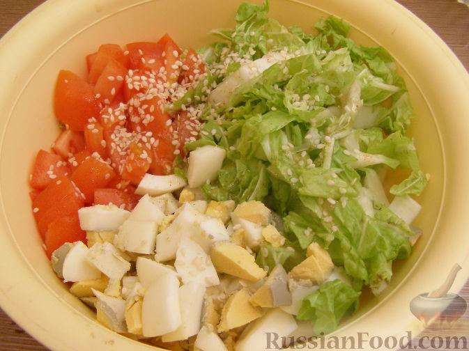 Рецепт салата пекинской капусты помидоров