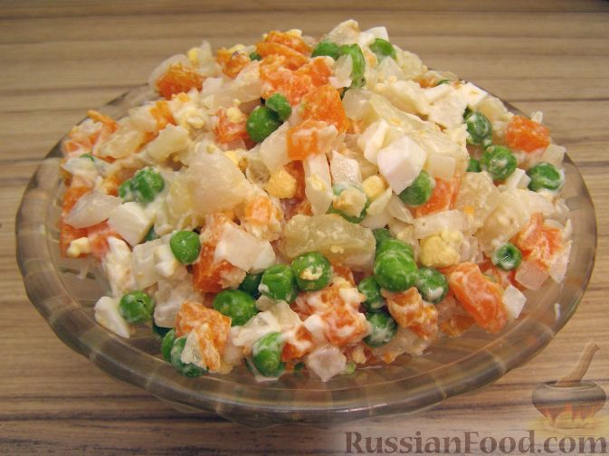 Рецепт Салат Оливье с рыбой