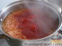 Фото приготовления рецепта: Красный борщ с курицей - шаг №9
