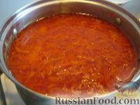 Фото приготовления рецепта: Красный борщ с курицей - шаг №11