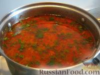 Фото приготовления рецепта: Красный борщ с курицей - шаг №12