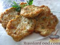 Фото к рецепту: Нежные котлетки из куриного фарша с сыром и зеленью