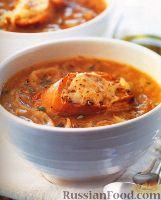Фото к рецепту: Французский луковый суп с гренками