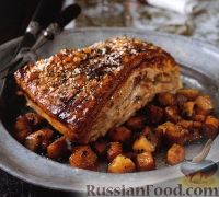 Фото к рецепту: Подчеревок, запеченный в духовке с овощами