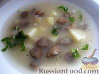 Фото к рецепту: Суп грибной постный с пшеном