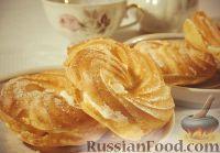 """Фото к рецепту: Заварные пирожные """"Творожное кольцо"""""""