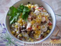 Фото к рецепту: Салат с крабовыми палочками (постный)