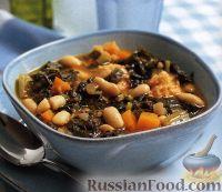 Фото к рецепту: Тосканский фасолевый суп риболлита