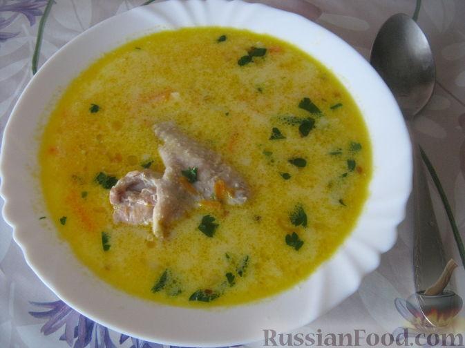 Рецепт Куриный суп с плавленым сыром