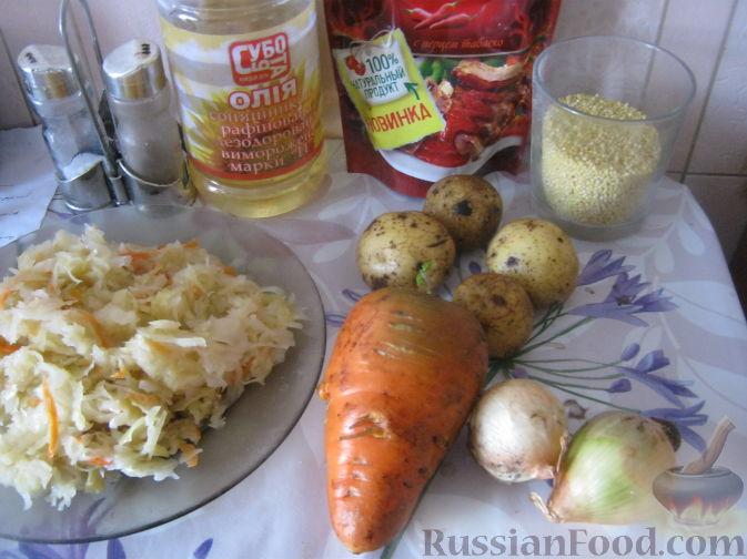 Фото приготовления рецепта: Картофельная запеканка с сосисками и сыром - шаг №12