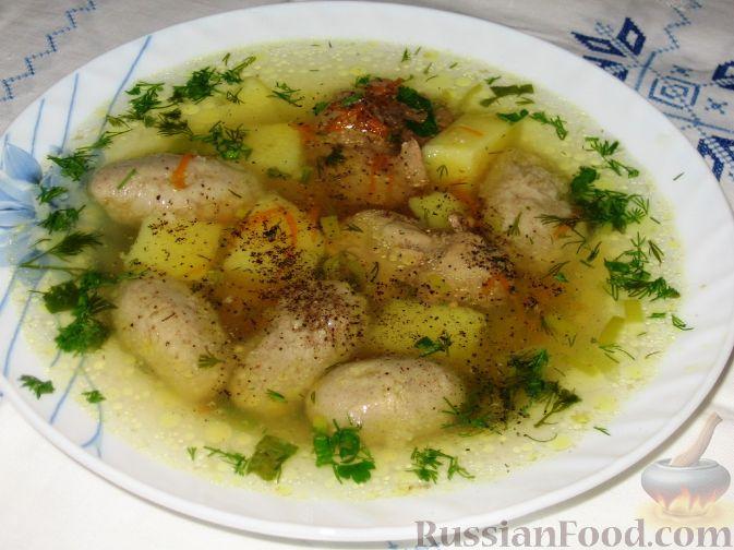Рецепт Куриный суп с гречневыми галушками