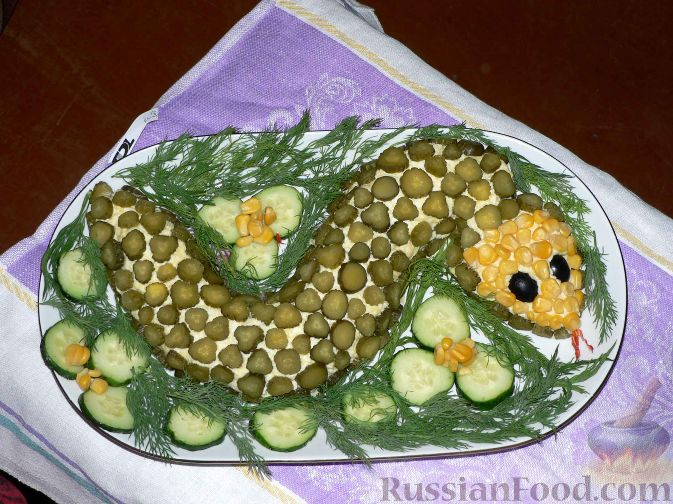 "Рецепт Салат ""Змея"""