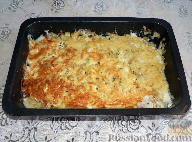 Фото приготовления рецепта: Жареная картошка с курицей и салом - шаг №8