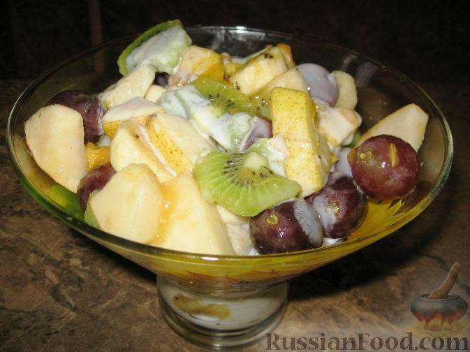 """Фото к рецепту: Фруктовый салат """"Осенний"""""""