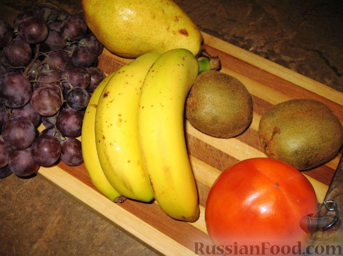 """Фото приготовления рецепта: Фруктовый салат """"Осенний"""" - шаг №1"""