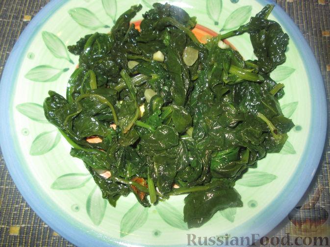 Рецепт Гарнир из свежего шпината